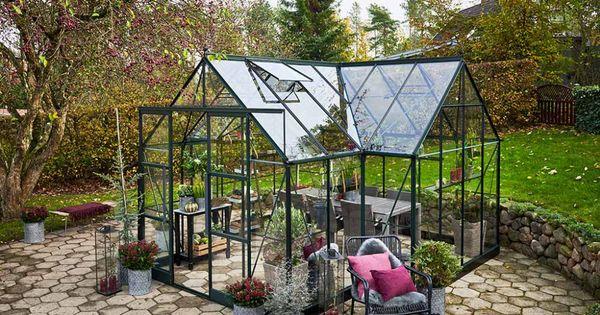 Serre De Jardin En Aluminium Et Verre Trempe Garden Room 12 9 M Serre Jardin Jardins Et Jardin D Hiver