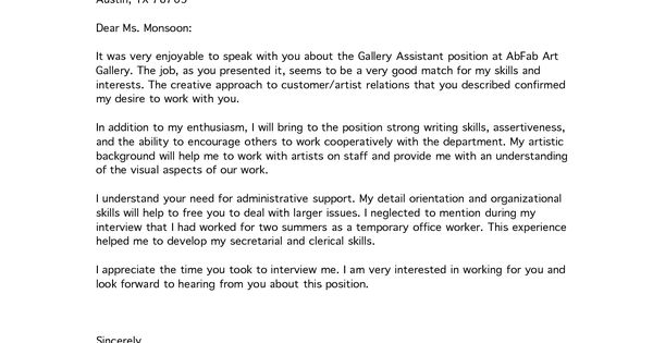 Sample Interview Thank You Letter MARGAUX FONTAINE Lovelace