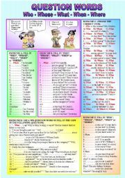 """English worksheet: """"WH - QUESTION WORDS"""" - Who-Whose-What ..."""