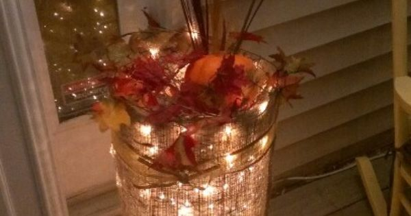 All You Need Is A Burlap Sac Xmas Lights Chicken Wire