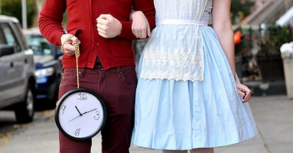 White Rabbit and Alice in Wonderland | 100 Creative Halloween Couples Costume