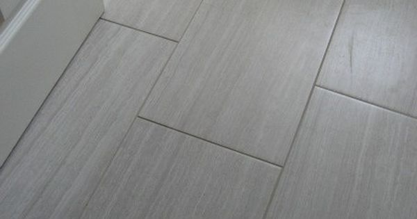 Grey Rectangle Tile For The Bathroom Floor Home