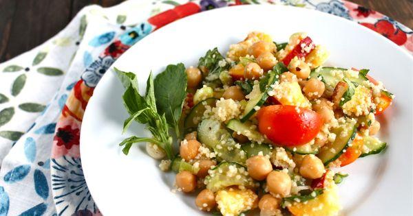 Summer chickpea salad | Summer recipes | Pinterest | Chickpea Salad ...