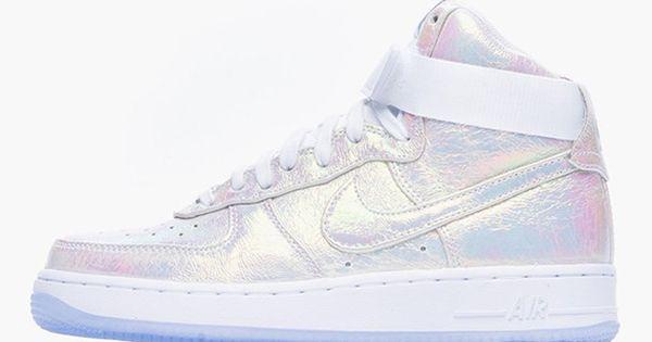 100% authentic 9dea9 24a39 ... premium qs iridescent pearl Nike Womens Air Force 1 ...
