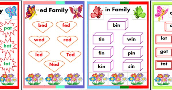 Cvc Word Charts In Printable Pub Format With Images Cvc Words