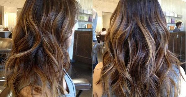 Long Layer hair cut style brunette caramel highlights warm. I just love