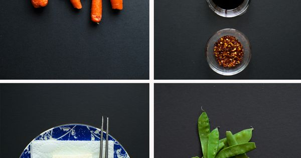 Roasted carrots, Crispy tofu and Snow peas on Pinterest