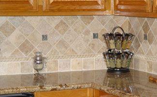 Tile Backsplash For Golden Oak Cabinets Anyone With Granite