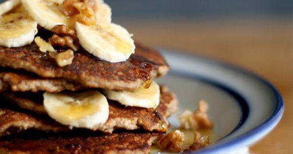 Easy Gluten Free Vegan Banana Bread Pancakes...