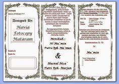 Download Undangan Pernikahan Lipat 3 Sederhana Format Ms Office