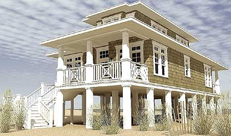Plan 44116td low country beach house plan small for Low country beach house plans