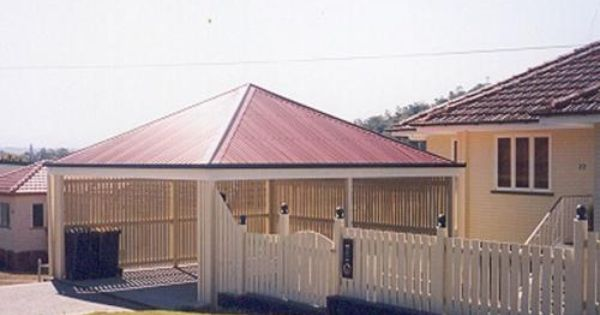 Pyramid Hip Roof Freestanding Carport Porches Amp Patios