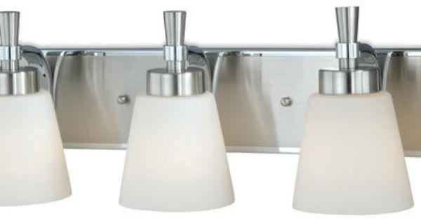 Griffin 3 Light Satin Nickel With Chrome Vanity Light Model Number Vl60803sc Menards