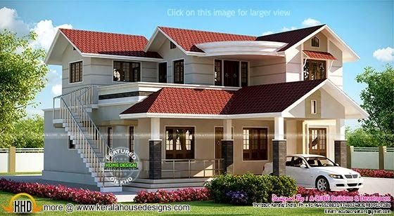 House With Outside Staircase House Outer Design Best Modern | Modern Staircase Design Outside Home | Iron Railings | Concrete | Design Ideas | Msmedia | Steel Staircase
