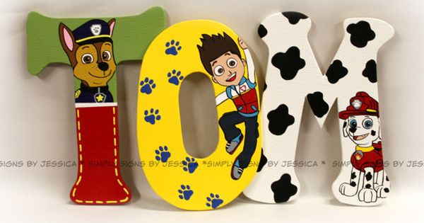 Paw Patrol Wall Lettering for Playroom or Kid's bedroom made to match