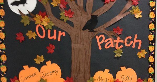 fall bulletin board ideas leaves