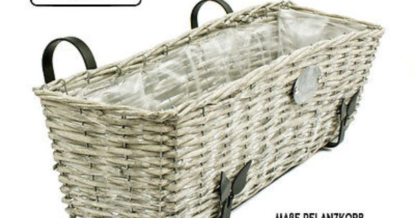 rattan blumenkasten balkonkasten folieneinsatz korb geflochten 65 x 19 x 17 cm ebay baskets. Black Bedroom Furniture Sets. Home Design Ideas
