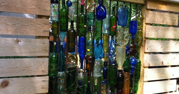 Great Reuse Of Old Glass This Fence Was Three Glass