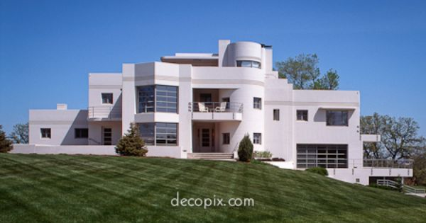 Want this from decopix the art deco architecture site for Streamline moderne house plans