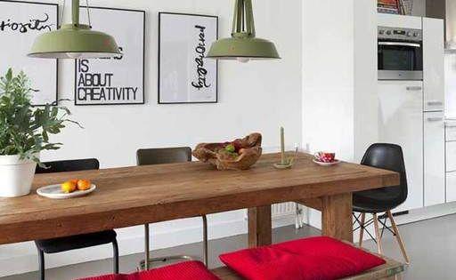 Las lamparas y el frutero rustico comedor pinterest for Mesa frutero cocina