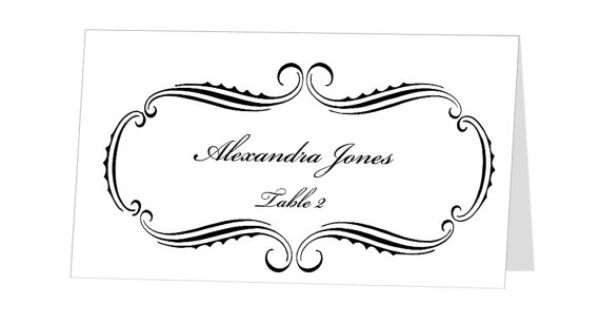avery place card template - instant download - escort card - for word and pages