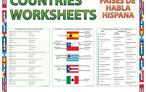 spanish speaking countries worksheets and activities spanish teacher resources pinterest. Black Bedroom Furniture Sets. Home Design Ideas
