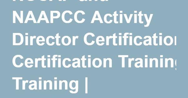 activity director certification training