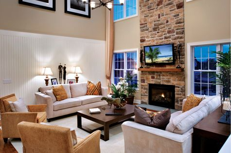 Toll Brothers 2 Story Family Room Interior Design Ideas Pinterest Room Living Rooms And