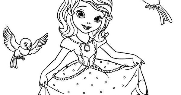 sophie princess disney coloring pages | Printable Disney Princesses sofia the first coloring pages ...