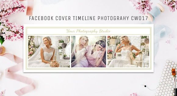 Facebook Timeline Cover Template Photography Fully editable