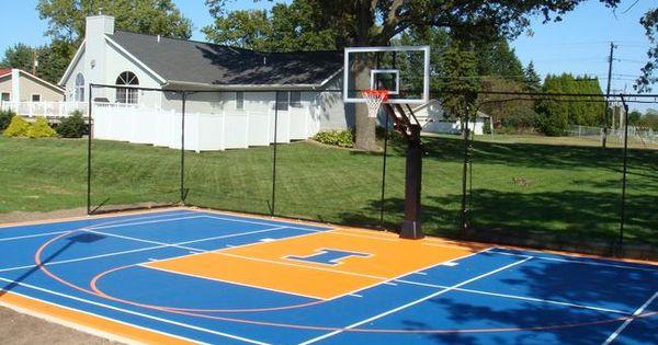 Backyard basketball court yard pinterest backyard for How much to build a backyard basketball court