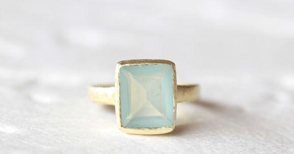 Color My World Indie Aquamarine Ring Gold Ring Aquamarine