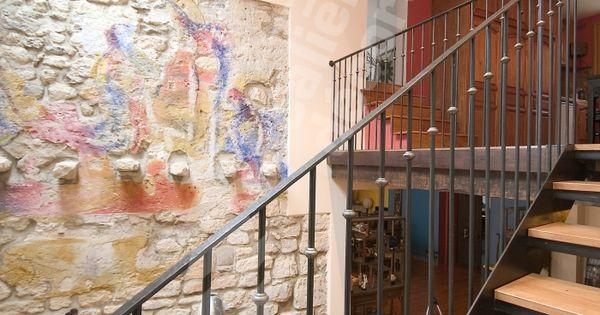 Photo Dt33 Esca 39 Droit 1 4 Tournant Interm Diaire Escalier D 39 Int Rieur M Tal Et Bois Style