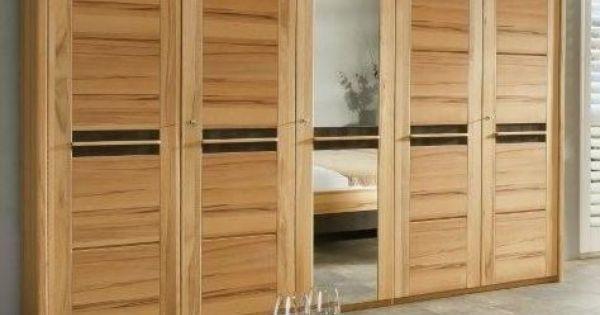 monte kleiderschrank kernbuche ge lt gewachst applikation nussbaum 5 t rig das. Black Bedroom Furniture Sets. Home Design Ideas