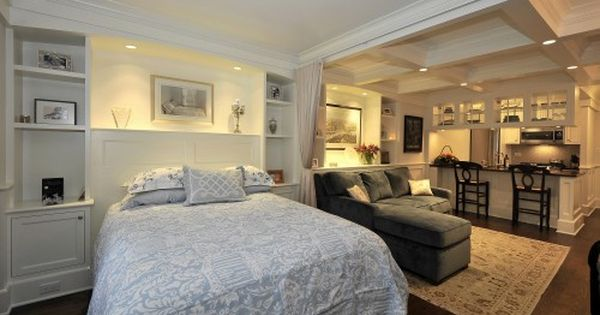 Traditional Bedroom Design Ideas Pictures Remodel And Decor Basement Apartment Decor Small Basement Apartments Apartment Room