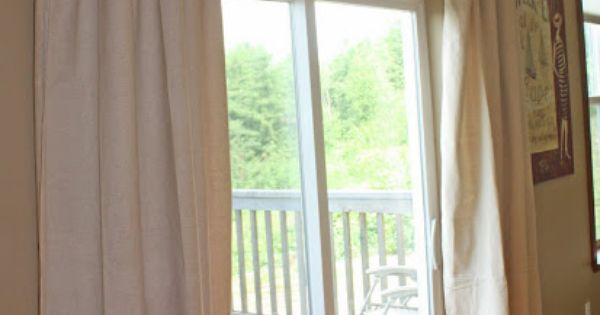 Sliding Back Door Curtains- to replace vertical blinds ...