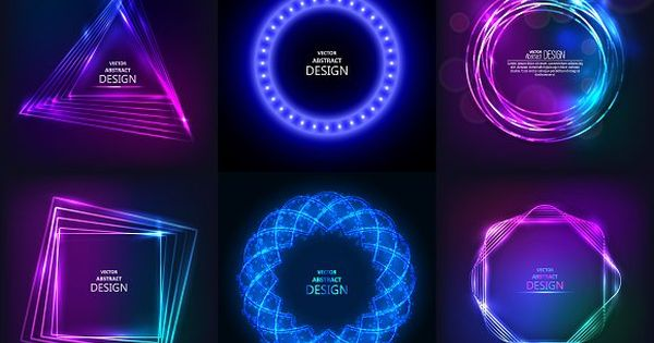 Set of sparkling neon banners by baretsky on @creativemarket