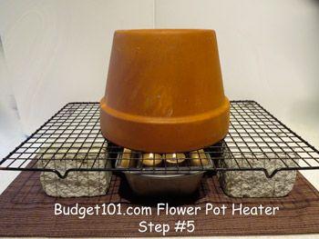 Diy Flower Pot Heater Emergency Heater Homemade Heater Homemade Heater Diy Heater Diy Flower Pots