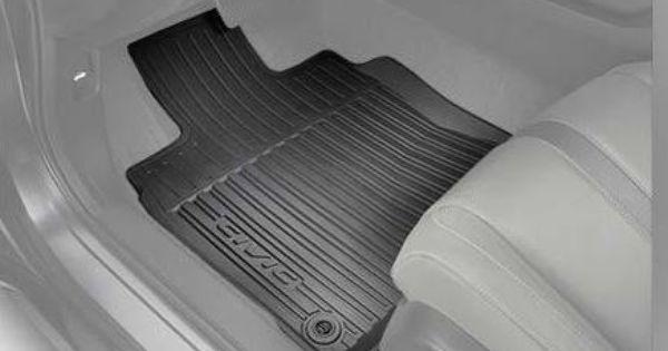 2016 Honda Civic 4 Door All Season Floor Mats High Side Black Set Of 4 Honda Civic Honda Civic Accessories Honda Civic 2016