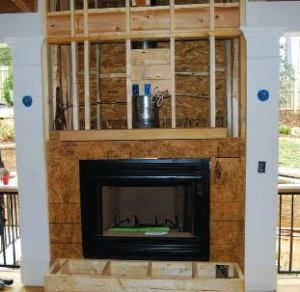 Fireplaces In Porches Installing A Fireplace Zero Clearance