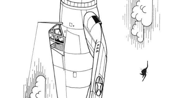 Un avion bombardier colorier coloriages avions - Coloriage bombardier ...