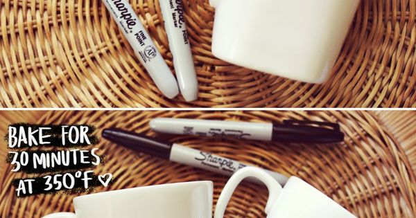 Great Xmas gift idea for the kids. Make a Sharpie Mug |
