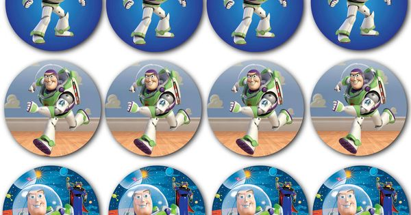 Custom Buzz Lightyear Cupcake Toppers By