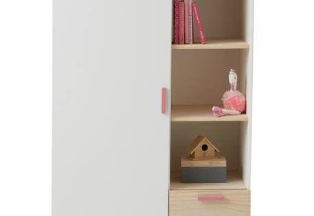 Kinder Kleiderschrank Farbtupfer Grun Rosa 16 Kinderzimmer In 2019 Kinder Kleiderschrank Kleiderschrank Und Schrank