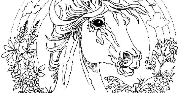 ausmalbilder mandala pferde 08 | pferdebilder | pinterest