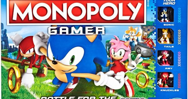 Monopoly Gamer NEW Hasbro Game Sonic the Hedgehog Edition Officially Licensed