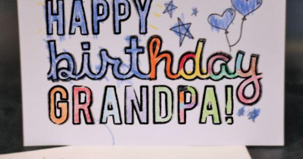 DADGRANDPA Printable Coloring Birthday Cards Dads Free