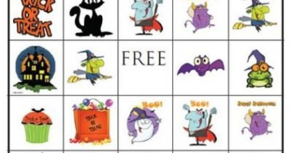 Free Halloween BINGO Printable {Free Printable Bingo Cards} great for the kids