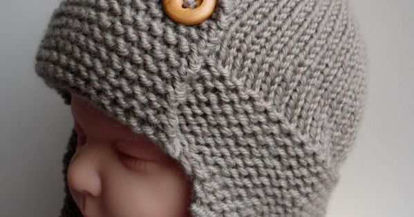baby knit hats | Baby Aviator Hat - Regan by Julie Taylor