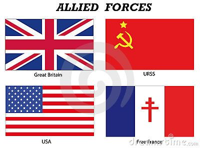These Are The Flags Of The Allied Forces Who Faught In World War 2 Aquired From Google Images Flag Allied Powers Army Badge